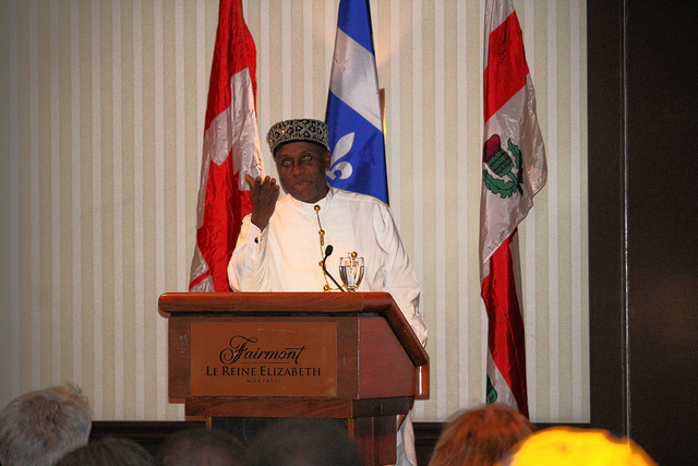 Rt Hon Chibuike Amaechi, Hon. Min. of Transportation & Patron, CILT, Nig delivering his Goodwill message