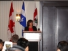 Sylvie Vachon, President Port of Montreal delivering her presentation @ the Convention