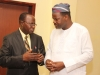 R-L- Dr. Ade Dosunmu (Chairman of the forum) in a chat with Mr. F. Ehiguese (NED, CILTN)