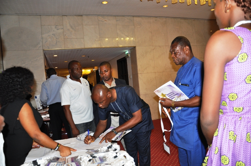 Participants @ the registration desk