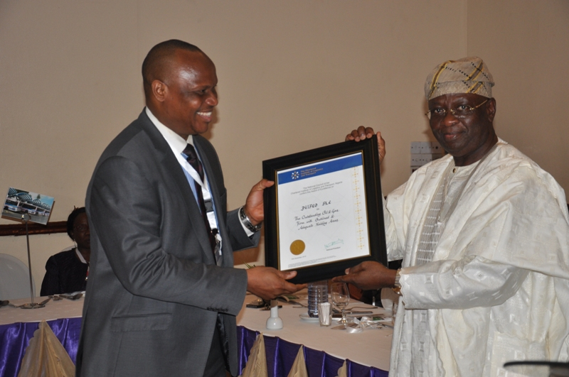 Presentation of award to NIPCO Plc