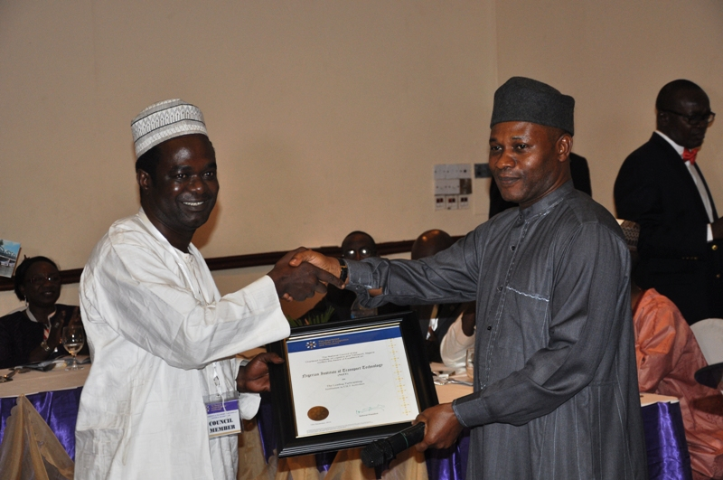 Presentation of award to Nig. Institute of Transport Technology
