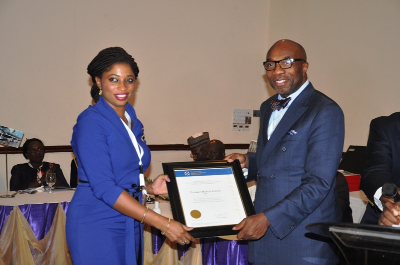 Presentation of award to Transport Service Limited (TSL)