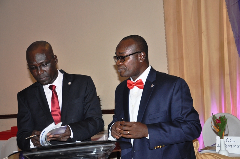 R-L- Mr. Paul Ndibe, FCILT (Deputy Director, Admin & Fin, CILTN) & the MC during the event