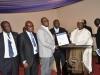 Chairman of Event, Chief Adebayo Sarumi, FCILT, OFR presenting an award to LAGBUS Asset Mgt Ltd