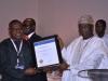 Chairman of Event, Chief Adebayo Sarumi, FCILT, OFR presenting an award to Port & Terminal Operators Nigeria Ltd