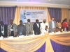 Dignitaries on the hih table during the commencemet of the event