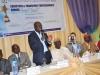Guest of Honour, Dr. Mobereola Ekundayo, FCILT, Hon. Commissioner for Transportation, Lagos State addressing participants