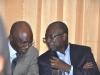 Guest of Honour, Dr. Mobereola Ekundayo, FCILT, Hon. Commissioner for Transportation, Lagos State in a chat with Maj Gen UT Usman (Rtd), FCILT, President, CILTN
