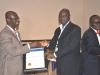Maj Gen BT Oginni (Rtd), FCILT presenting an award to Trans-National Express Plc (TRANEX)